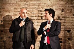 Federico Sannella (a sinistra), direttore relazioni esterne Birra Peroni, e Filippo Carenza, produttore Orzo Birra Peroni.