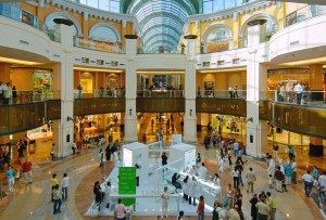 Un particolare del Dubai Mall