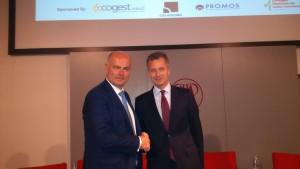 Massimo Moretti, Presidente CNCC (a sin.) e Filippo Rean, direttore divisione Real Estate di Reed Midem