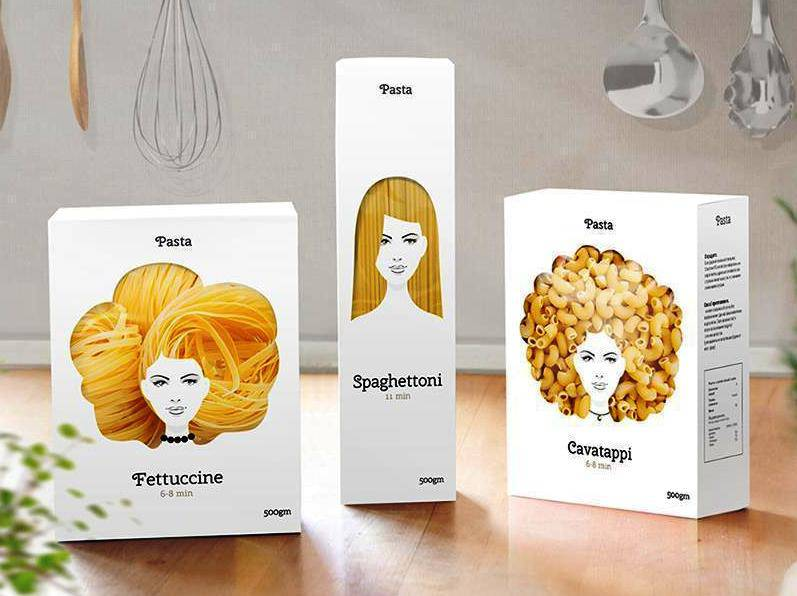 pasta packaging creativo