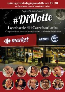 #DiNotte la webserie di #CarrefourLatina POSTER
