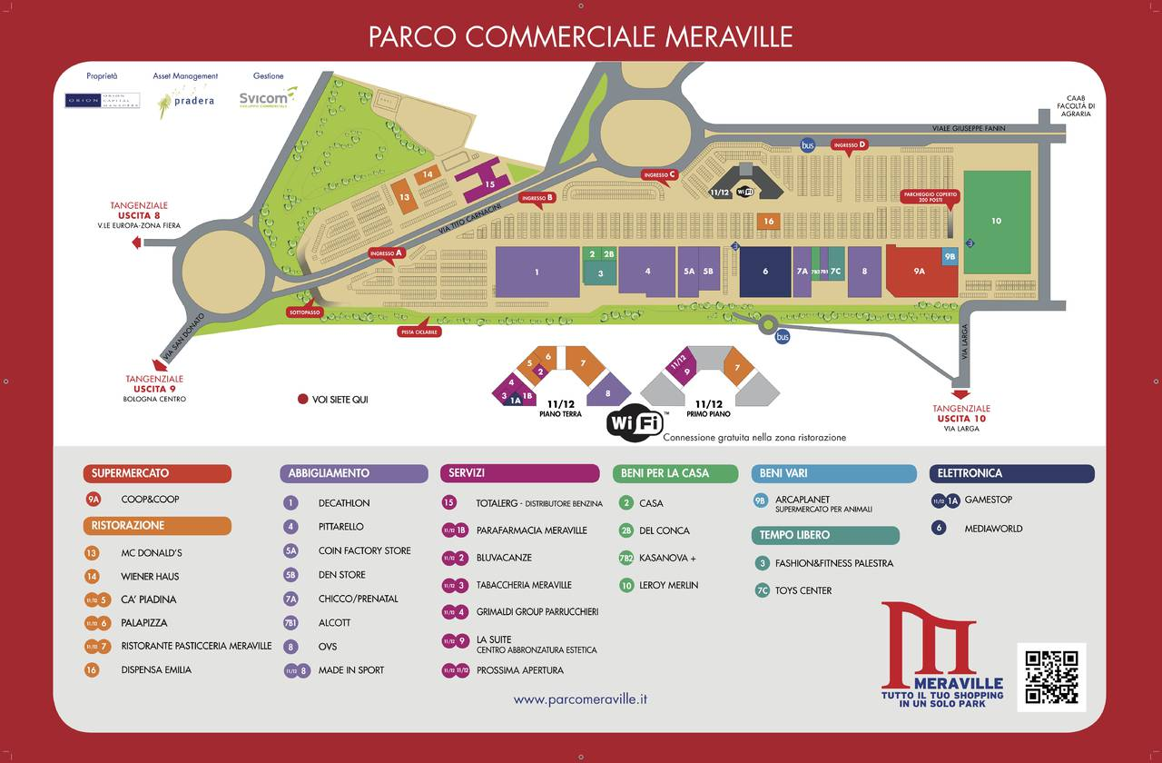 Pianta Parco Commerciale Meraville