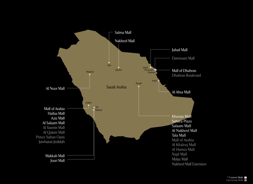 Arabian Centres map