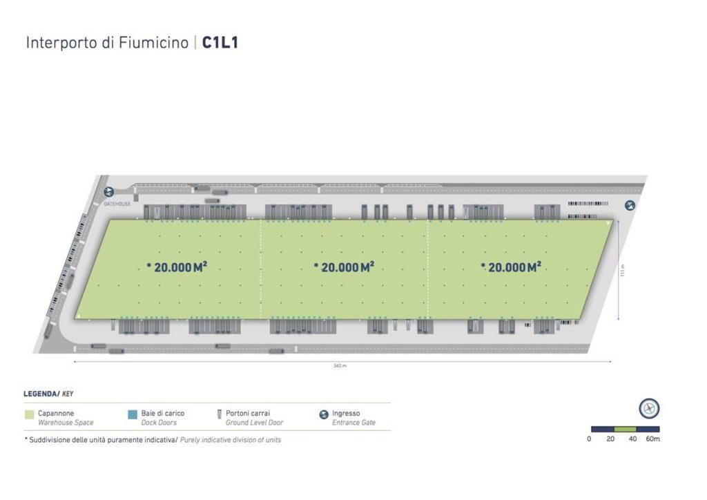 Fiumicino site plan