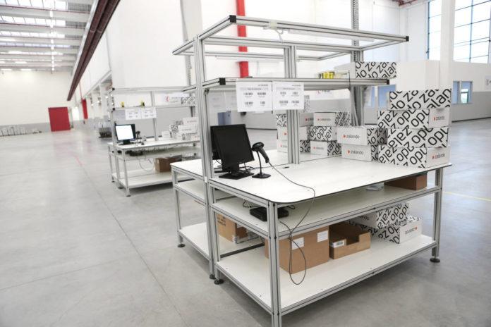 Il magazzino satellite di Zalando a Stradella (Pv), inaugurato all'inizio del 2016