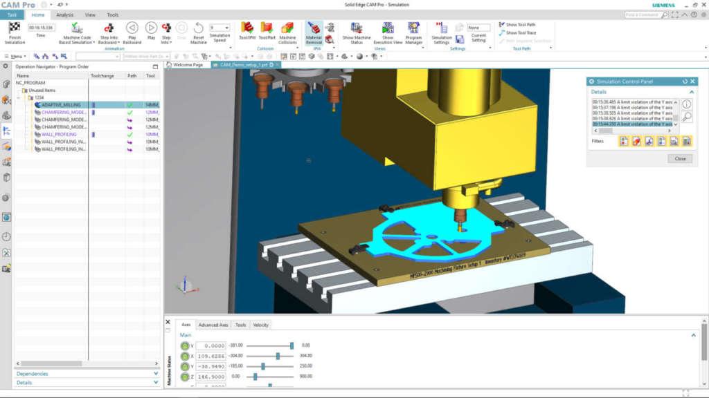 Realtà aumentata per la manifattura Solid Edge 2020 per la simulazione