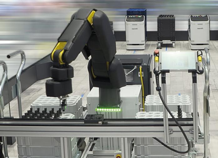 Pelle robotica Bosch Rexroht