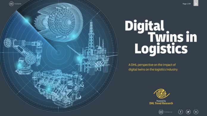 La copertina del report Digital Twins in Logistics di DHL Trend Research