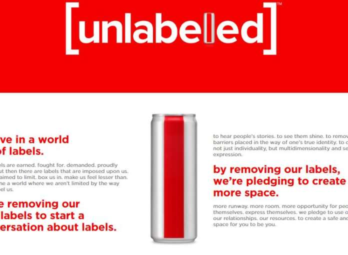 Diet Coke etichetta