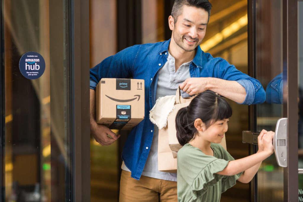 Gli smart locker possono essere installati anche negli spazi comuni di un condominio di medie dimensioni. [Credit immagine: Amazon]